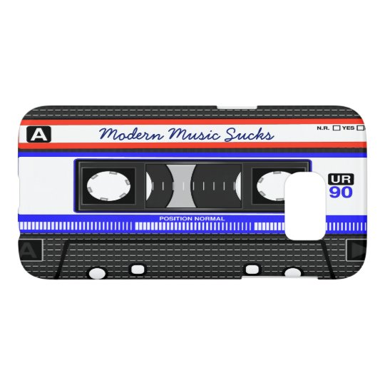 Modern Music Sucks Retro Compact Cassette Funny Samsung Galaxy S7 Case