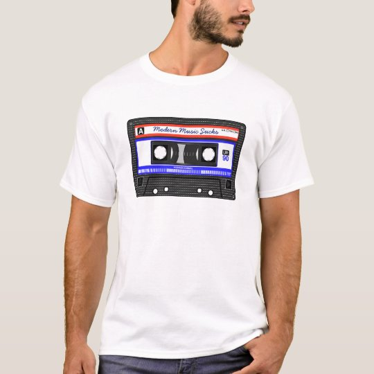 Modern Music Sucks Retro Compact Cassette Funny T-Shirt