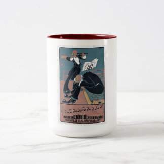 Modern Music Violin, Noise, Budapest Vintage Two-Tone Coffee Mug