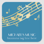 Modern Musical Business Branding Gold Music Notes Stickers