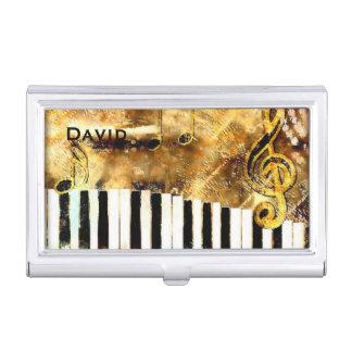 Modern Musical Themed Business Card Case