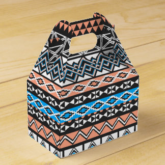 Modern Native American Tribal Aztec Pattern Favor Box