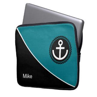 Modern Nautical Laptop Sleeve