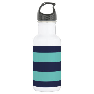Modern Navy Blue and Turquoise  Rugby Stripes