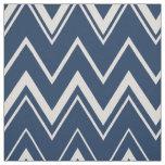 Modern navy blue and white chevron pattern fabric