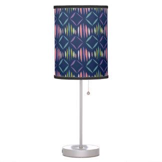 Modern Navy Blue Geometric Pattern Table Lamp