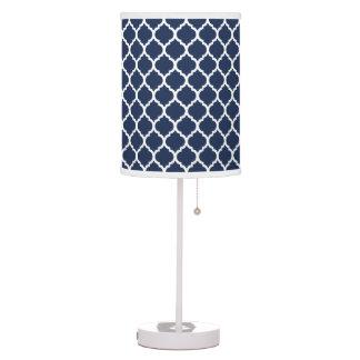 Modern Navy Quatrefoil Table Lamp