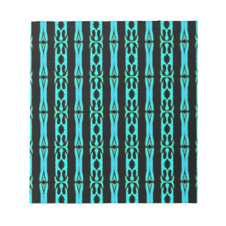 Modern Neon Aquamarine Teal Background Pattern Notepad