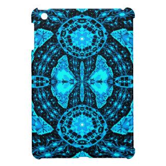 Modern Neon Blue Funky Pattern Case For The iPad Mini