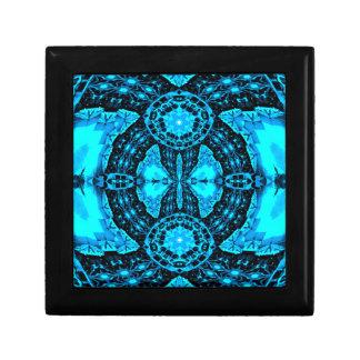 Modern Neon Blue Funky Pattern Gift Box
