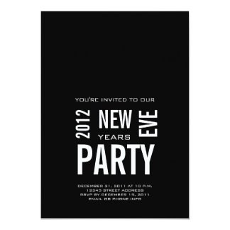 Modern New Years Eve Party Invitation