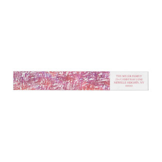 Modern Noel by The Spotted Olive Holiday Wraparound Return Address Label