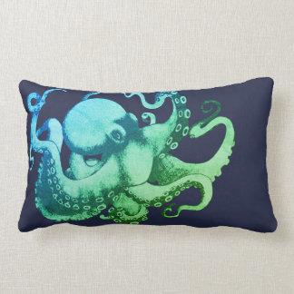 Modern Ocean Hues Sea Creature Octopus Lumbar Pillow