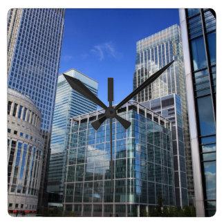 Modern Office Buildings Wallclock