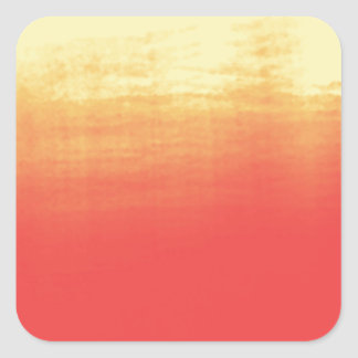 Modern Ombre Watercolor Red and Yellow Square Sticker