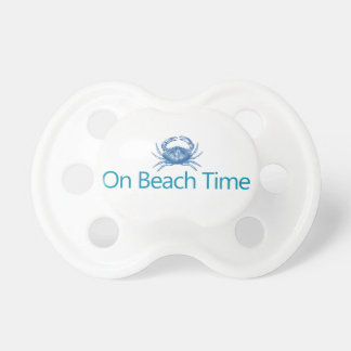 "Modern ""On Beach Time"" Pacifier"