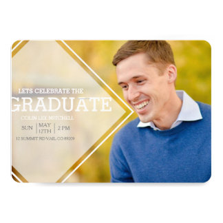 Modern Opaque Overlay | Graduation Party Photo Card