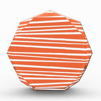 Modern Orange Abstract Tiger Stripes Zig Zag