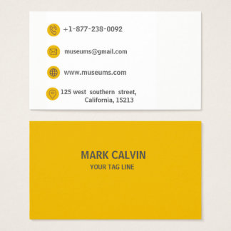 Modern Orange Business Card