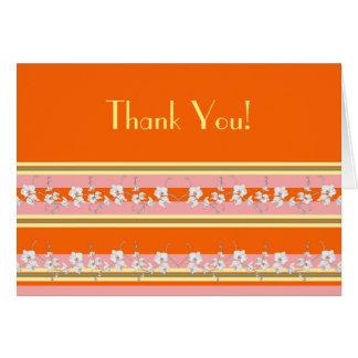 Modern Orange Customizable Card