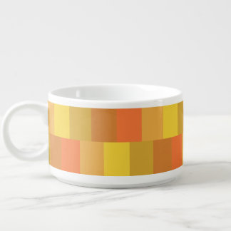 Modern Orange Palette Pattern Bowl