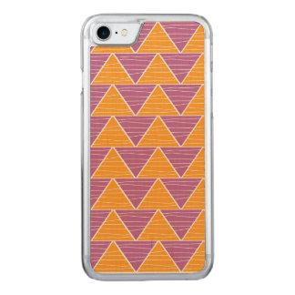 Modern Orange PurpleTriangles Chevron Pattern Carved iPhone 7 Case
