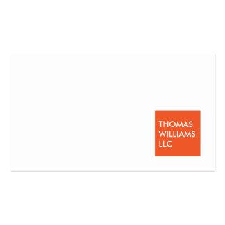 MODERN ORANGE SQUARE Professional Business Card