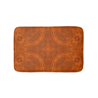 Modern Orange wood Pattern Bathroom Mat