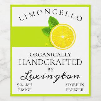 Modern Organic Limoncello Tall Bottle Label |