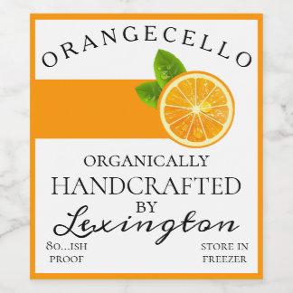 Modern Organic Orangecello Tall Bottle Label |