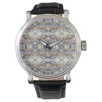 Modern Oriental Geometric Floral Print Watches