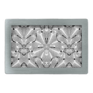 Modern Oriental Ornate Rectangular Belt Buckles