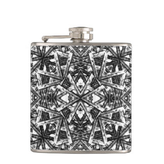 Modern Oriental Pattern Hip Flask