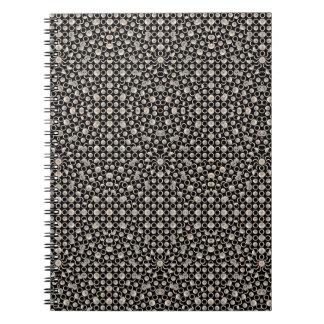 Modern Oriental Pattern Spiral Notebook