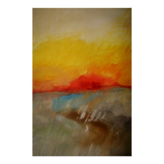 Modern Original Abstract Painting Art Poster