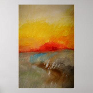 Modern Original Abstract Painting Art Poster