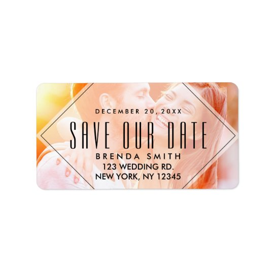 Modern Overlay | Photo Save the Date Address Label
