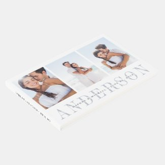 Modern Overlay | Three Photo Wedding Guest Book