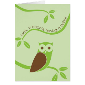 Modern Owl Folded Baby Shower Invitation