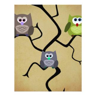 Modern Owl Full Color Flyer
