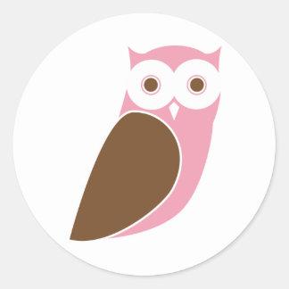 Modern Owl Sticker - Pink