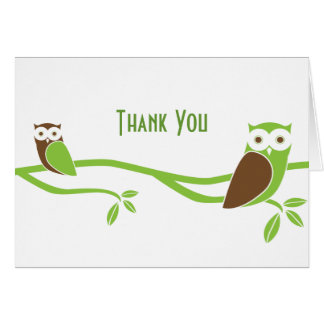 Modern Owl Thank You Cards