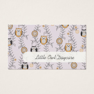 Modern Owls Daycare Business Cards