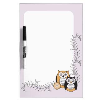 Modern Owls Dry Erase Board