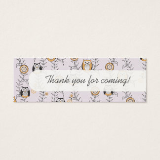 Modern Owls Party Favor Tags