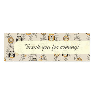 Modern Owls Party Favor Tags Pack Of Skinny Business Cards