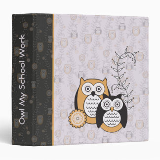 Modern Owls School Work Binder