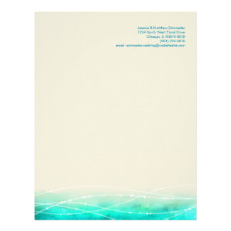 Modern painted abstract sparkle seas letterhead
