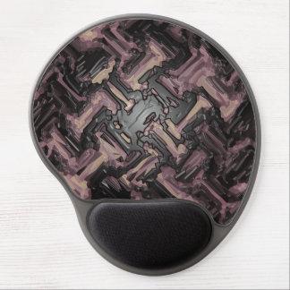 Modern Pale Brown Black Mosaic Metal Floor Gel Mouse Pad