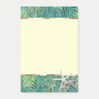 Modern Palm Leaf,Starfish Post-it Notes